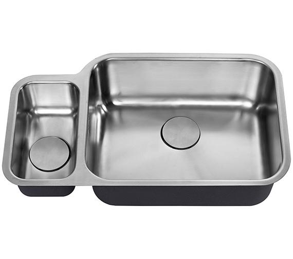 Additional image of 1810 Company Etroduo 781-450U BBR 1.5 Bowl Undermount Sink - Right Hand Big Bowl