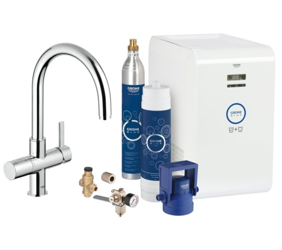 Grohe Blue Professional Kitchen Sink Mixer Tap With Starter Kit