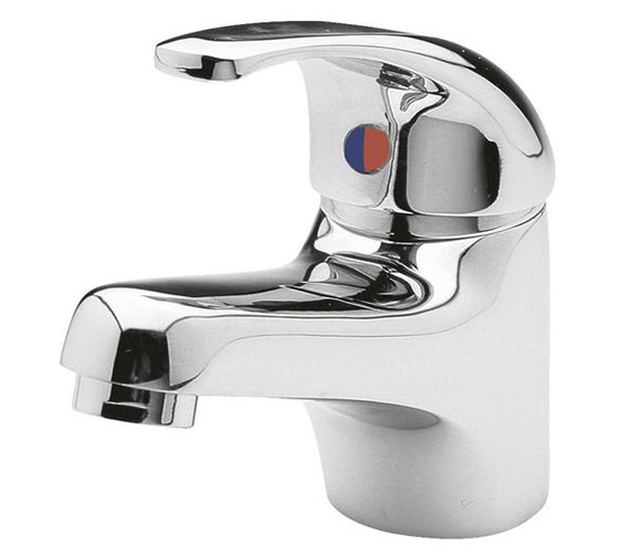 Lauren Eon Classic Mono Basin Mixer Tap With Push Button Waste