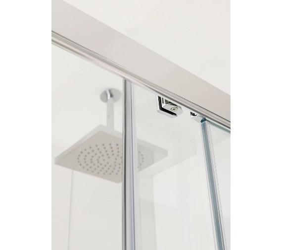 Additional image of Lakes Coastline Talsi Sliding Shower Door 1000mm