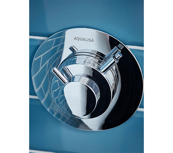 Additional image of Aqualisa Dream Concealed Thermostatic Shower Mixer Valve With Slide Rail Kit