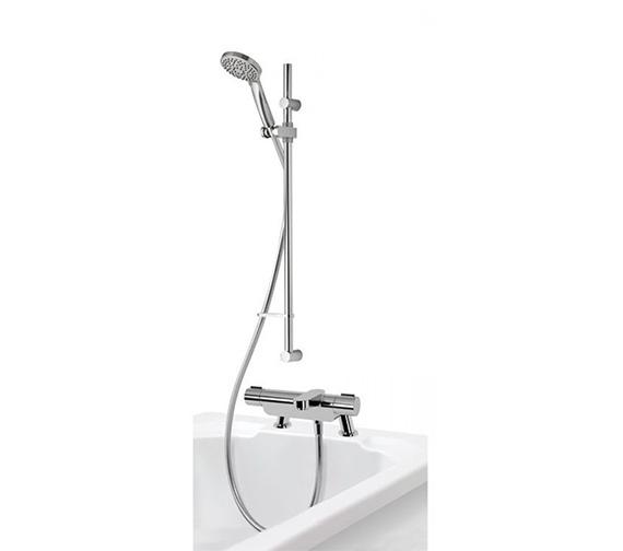 Aqualisa Midas 220 Thermostatic Bath Shower Mixer Tap With Slide Rail Kit