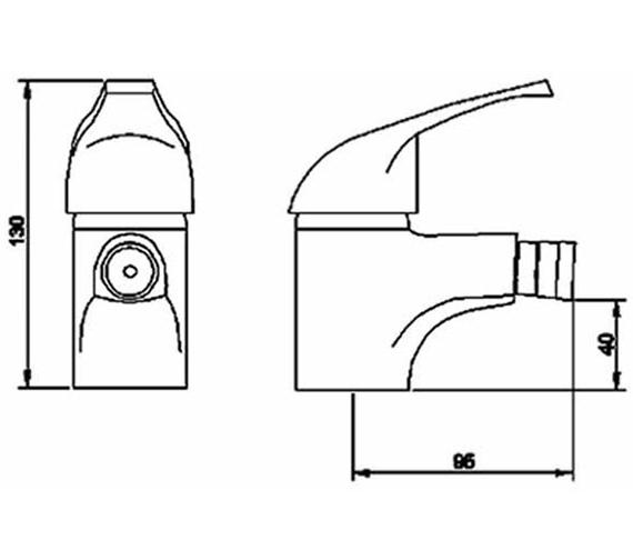 Technical drawing QS-V36486 / PF306