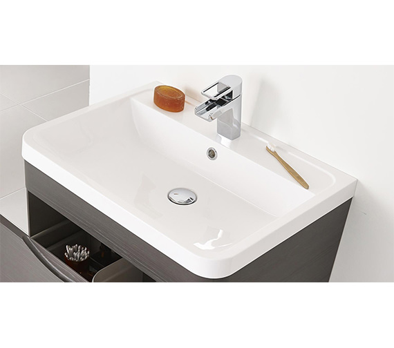 Nuie Premier Eclipse 600mm Wall Hung Drawer Cabinet And Basin