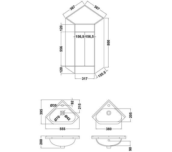 Technical drawing QS-V61421 / CU001