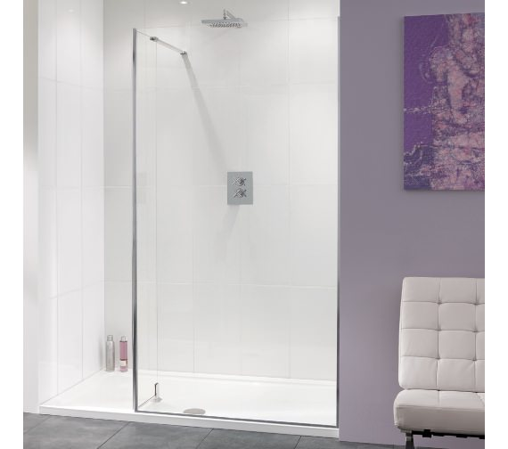 Lakes Coastline Nice 10mm Walk-In Shower Screen 800mm