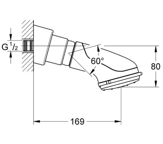 Technical drawing QS-V7608 / 28189000