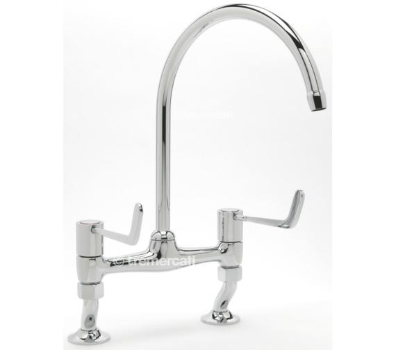 Tre Mercati Capri Lever Dual Flow Bridge Pillar Sink Mixer Tap - 3617
