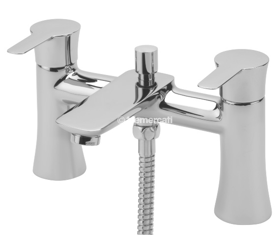 Tre Mercati Balena Pillar Bath Shower Mixer Tap With Kit