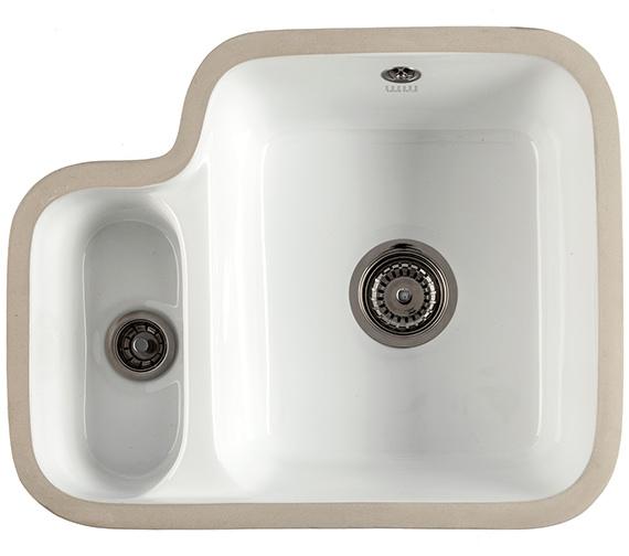 1810 Company Etroduo 343-136UC 1.5 Bowl Undermount Ceramic Sink