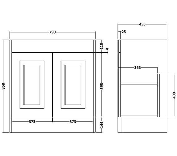 Technical drawing QS-V80383 / OLF305