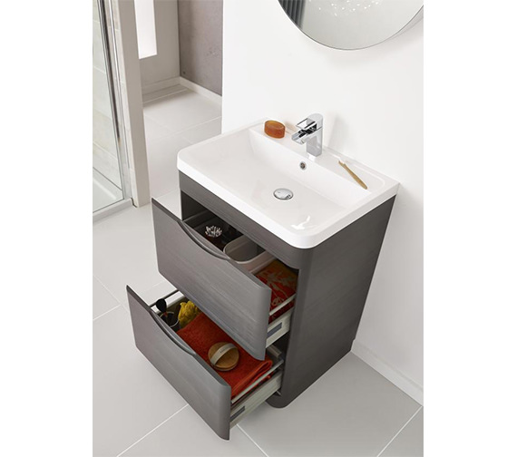 Premier Eclipse 800mm 2 Drawer Floor Standing Cabinet And Basin