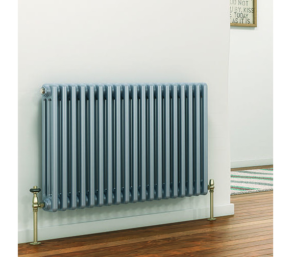 DQ Heating Peta 3 Column White Radiator 3 To 40 Sections