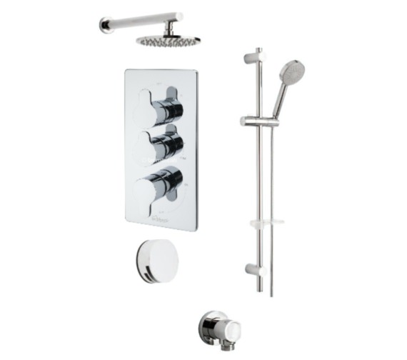 Tre Mercati Lollipop Concealed Valve 3 Way Diverter And Shower Set