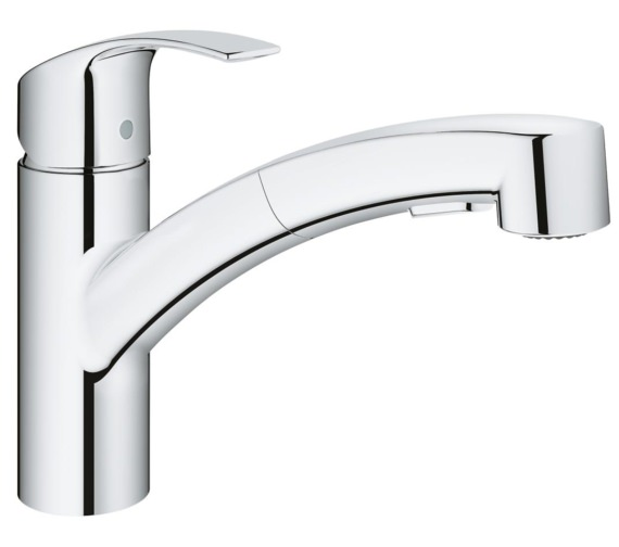 Grohe Eurosmart Half Inch Crome Single Lever Kitchen Sink Mixer Tap