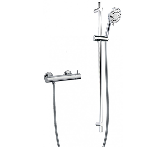 Flova Levo Exposed Thermostatic Bar Valve With Slide Rail And Design Handset