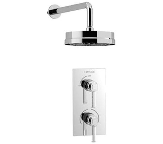 Heritage Somersby Recessed Thermostatic Valve With Wall Fixed Head Kit