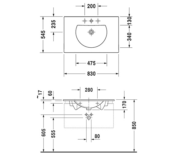 Technical drawing QS-V59275 / 0499830000