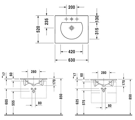 Additional image of Duravit Darling New Furniture Washbasin
