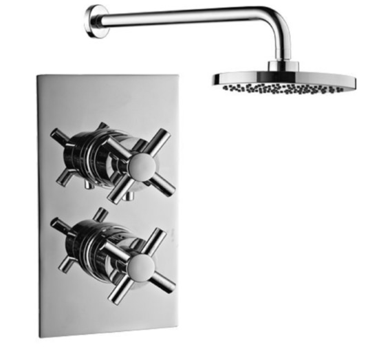 Mayfair Elena Dual Handle Thermostatic Valve With Shower Head And Arm