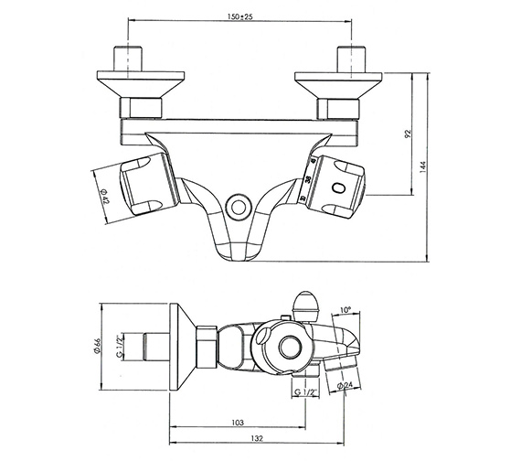 Technical drawing QS-V30327 / QU/196/C