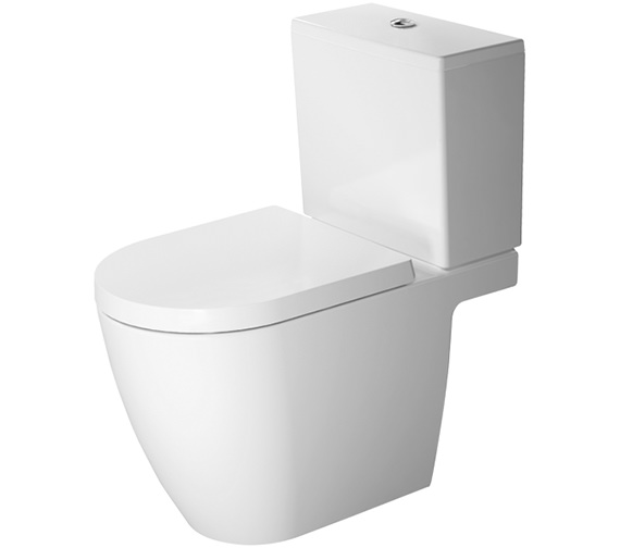 Duravit ME by Starck Open Back Close Coupled WC With Dual Flush Cistern