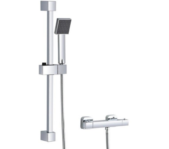 Mayfair Kubo Thermostatic Bar Valve With Slide Rail Kit And Shower Handset