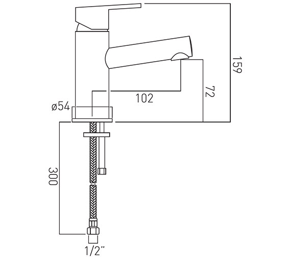 Technical drawing QS-V37132 / SEN-100/SB-C/P