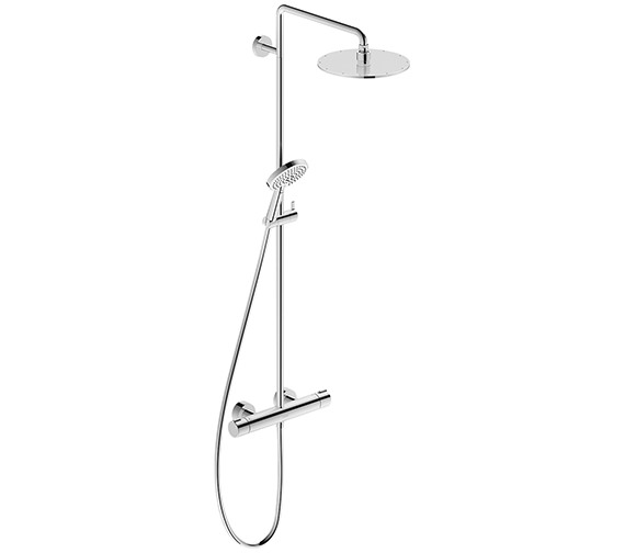 Duravit C.1 Wall Mounted Thermostatic Shower Mixer Valve With Riser Kit