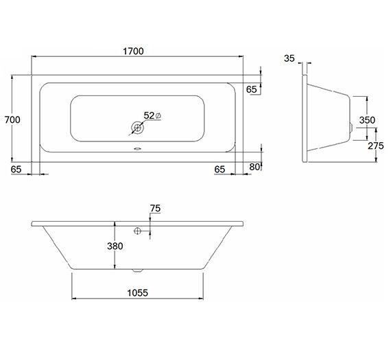 Technical drawing QS-V80487 / 20146