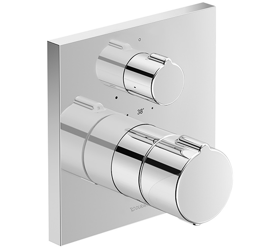 Duravit C.1 Square Thermostatic 1 Outlet Shower Mixer With Shut-Off Valve