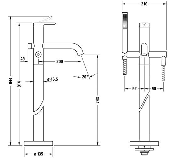 Technical drawing QS-V82648 / C15250000010