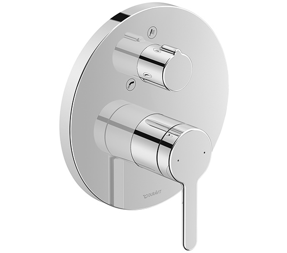 Duravit C.1 Round Concealed Manual Bath Mixer Valve With Diverter