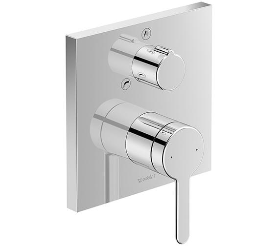 Duravit C.1 Square Concealed Manual Bath Mixer Valve With Diverter
