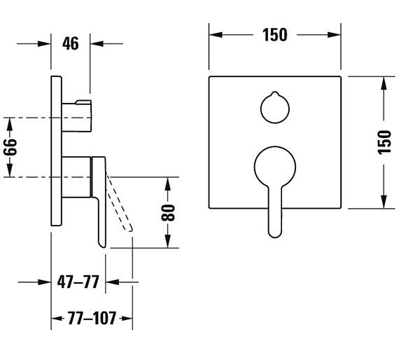Technical drawing QS-V82650 / C15210011010