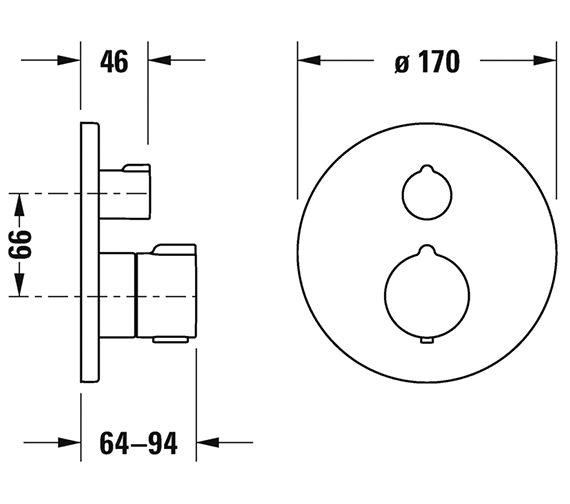 Technical drawing QS-V82651 / C15200014010