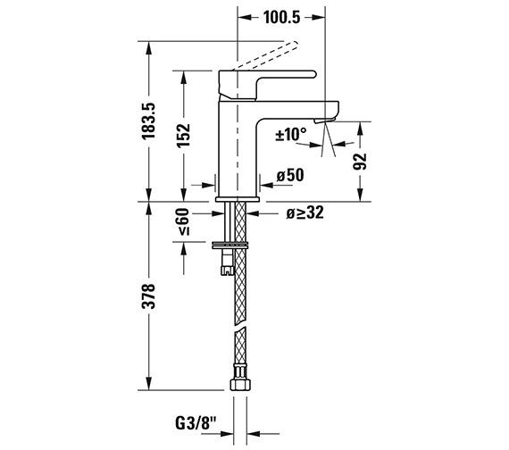 Technical drawing QS-V82667 / B21010002010