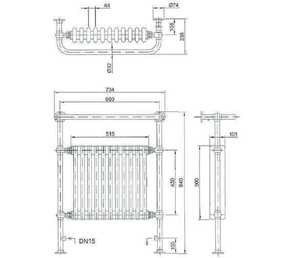 Technical drawing QS-V24368 / AHC73