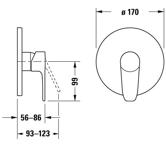 Technical drawing QS-V82662 / B14210010010