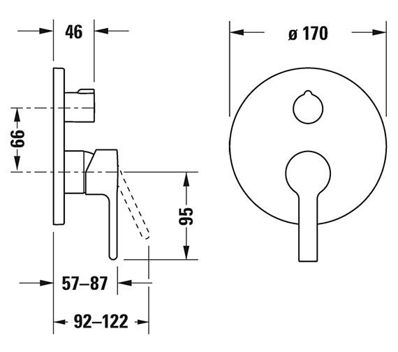 Technical drawing QS-V33620 / B24210010010