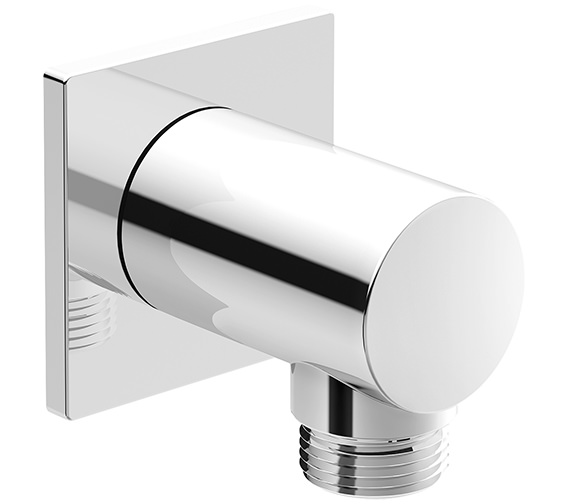 Duravit Wall Mounted Shower Hose Outlet With Square Escutcheon