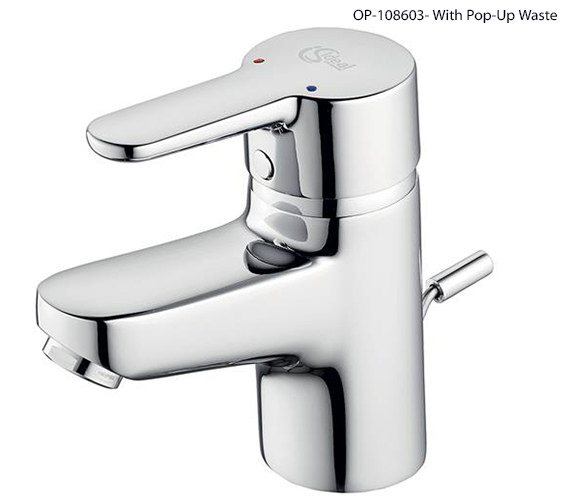 Additional image of Ideal Standard Concept Blue Small Basin Mixer Tap Without Waste