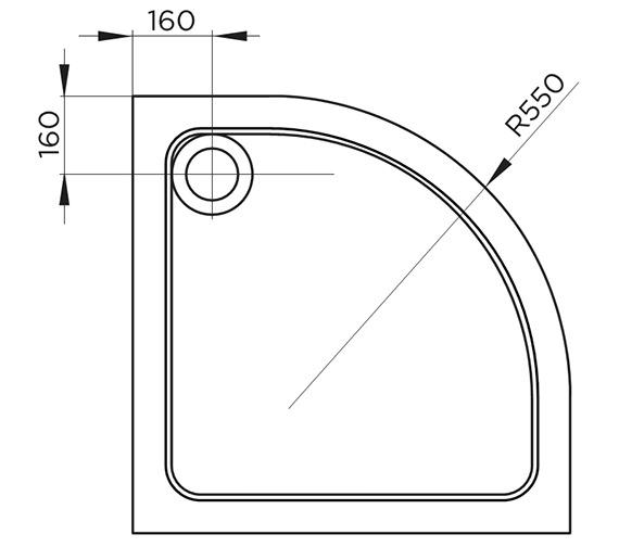 Technical drawing QS-V54716 / TR9-8080Q