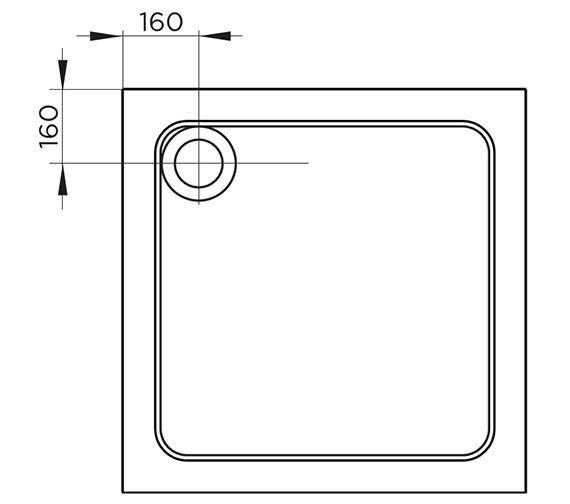 Technical drawing QS-V54700 / TR9-7070