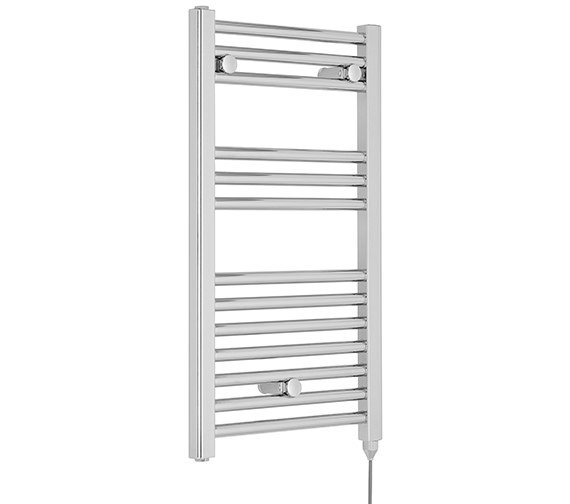 Additional image of Premier Straight 400 x 720mm White Heated Electric Towel Rail - MTY156