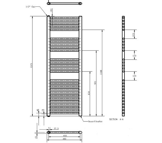 Technical drawing QS-V84540 / MTY157