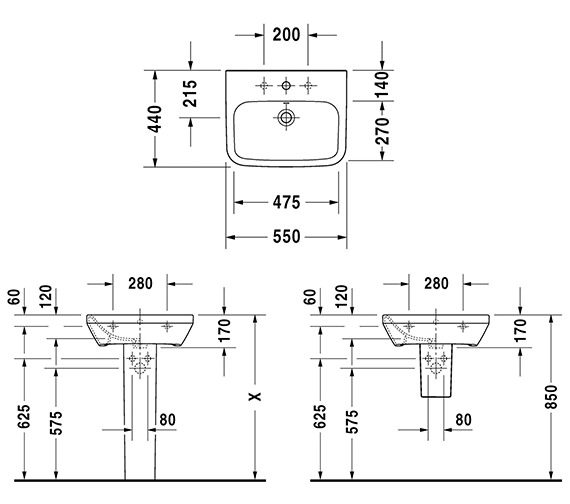 Technical drawing QS-V24884 / 2319550000