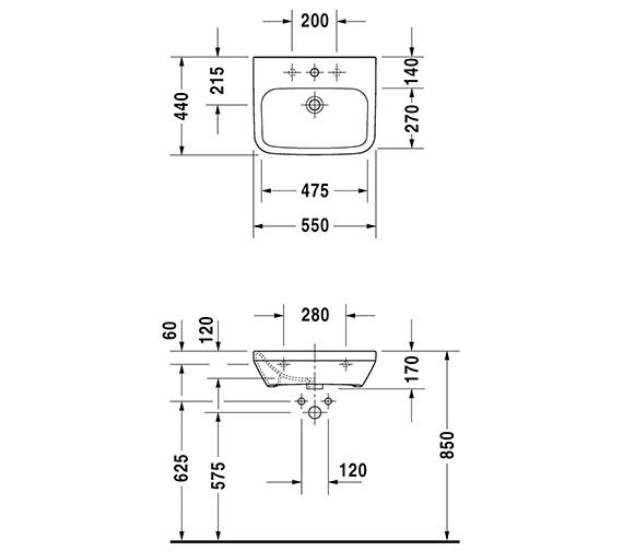 Technical drawing QS-V14480 / 2324550000