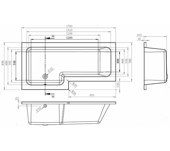 Technical drawing QS-V60421 / BMBS1785L