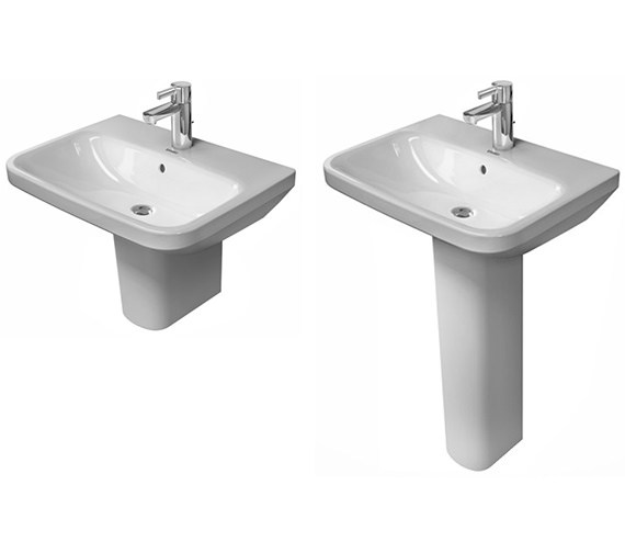 Alternate image of Duravit DuraStyle 550 x 440mm 1 Taphole Washbasin With Overflow